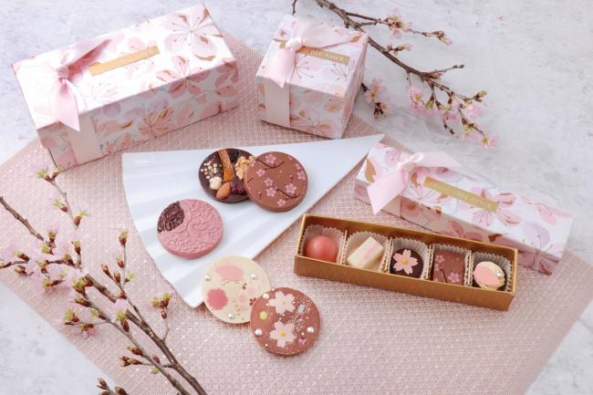 ショコラ専門店「ベルアメール」のスプリングコレクションがスタート!春の訪れを感じさせる桜をイメージしたショコラや新作スイーツが登場。